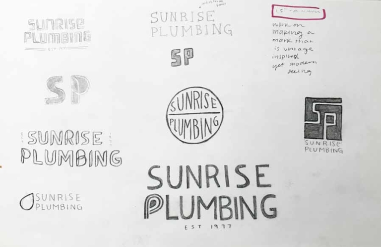 Sunrise plumbing logo sketch